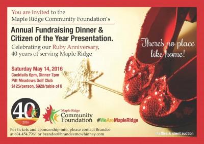 Annual Fundraising Dinner invite